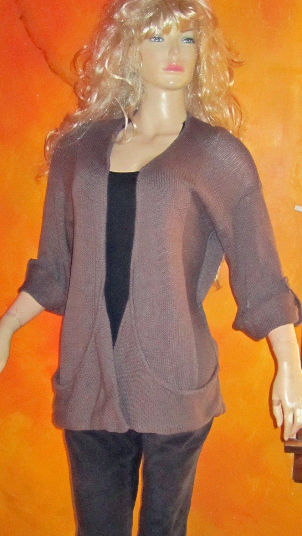 Victoria's Secret $68 Cotton Rum Raisin Cardigan Sweater Medium 264708
