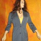 Victoria's Secret $108 Slate Blue 3/4 Sleeve Jacket Blazer Size 12  222550