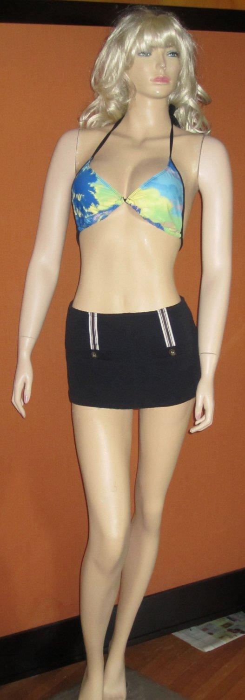 Victoria's Secret Retro Skirted High Waist Sailor Bathing Suit Bottom Size Medium 235947
