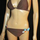 Victoria's Secret $120 Playa by La Blanca Brown Bikini Medium  201121