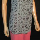 Victoria's Secret $45 Logo Grey Black VSX Sexy Sport Top Small Petite 294273
