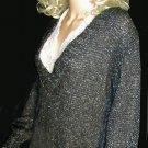 Victoria's Secret $58 V Neck Black Mohair Sparkle Sweater Small 204689