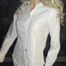 New Victoria's Secret White Oxford Button Down Long Sleeve Shirt Size 0  231571