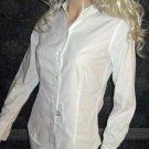 New Victoria's Secret White Oxford Button Down Long Sleeve Shirt Size 0  231571