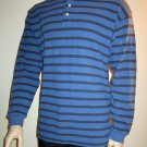 NWT Gap Waffle Knit Blue Henley Top Size Large 525911