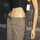 Victoria's Secret $88 Christie Fit Leather Trim Pants 4  186058