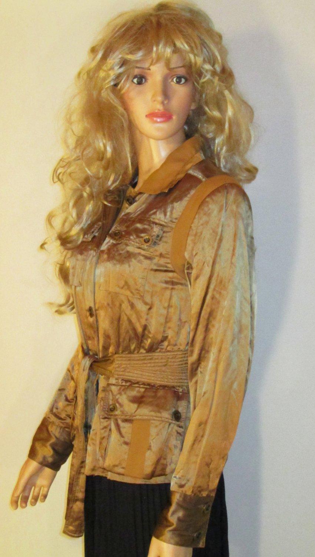Victoria�s Secret $148 Belted Bronze Jacket Blazer 6  192640