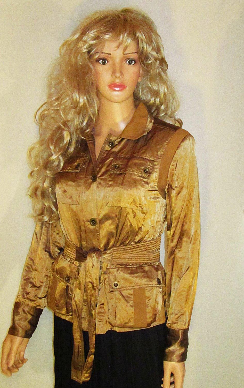 Victoria�s Secret $148 Belted Bronze Jacket Blazer 14  192640