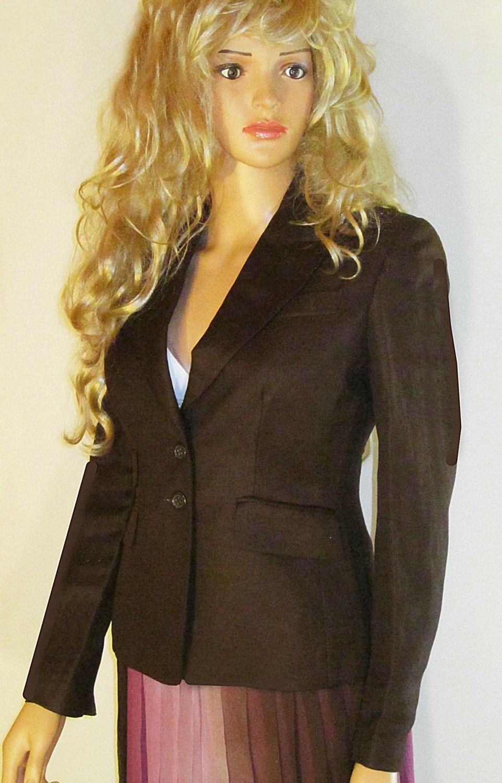 Victoria�s Secret Brown Linen Jacket Blazer 0  210906