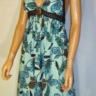 Victoria's Secret $158 Turquoise Maxi Halter Long Dress 12 211161