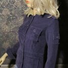New Victoria's Secret Sheepskin Collar Purple Corduroy Jacket XS 177490