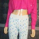 Victoria's Secret Love PINK Grey Stretch Cotton Lounge Pajama Pants Large 288261