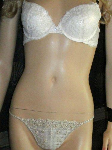 NWT Victoria's Secret $92 Very Sexy White Bridal Push-Up 34B Bra Set 286125