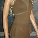Victoria's Secret Sexy Ponte Peplum Brown Sleeveless Dress 2 296727