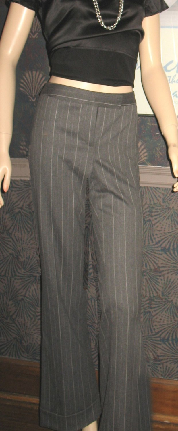 NWT International Concepts Macy's Fully Lined Gray Cuffed Wool Pants 10 219009