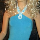 Victoria's Secret $48 Blue Necklace Halter Top Bra Top Small 182226