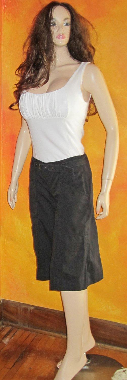 Victoria's Secret Black Skimmer Shorts Capri Pants Size 0 238583