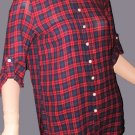 Victoria's Secret Red Plaid Boyfriend Shirt Top XS Small 259760