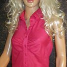 Victoria's Secret Fine Cotton Voile Pink Halter Shirt Top XS 183040