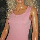 Victoria's Secret Candy Pink Cotton Tank Top size XS 180733