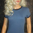 Victoria's Secret Blue Two Tone Ultimate Cotton Tee Top XS  170246