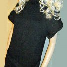 New Victoria's Secret Short Sleeve Long Black Tunic Cotton Sweater Medium   213736