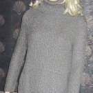 Victoria's Secret Grey Tunic Turtleneck Long Sweater XS Small 267595