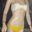 Victoria's SecretYellow & White Polka Dot Bandeau Bikini Size Small  221167