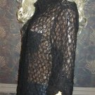 Victoria's Secret $68 Long Lace Black Shirt Dress Swimsuit Cover-Up Medium  259773