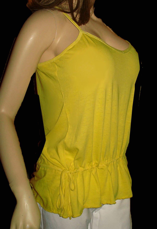 Victoria's Secret Long Drop Waist Yellow Tank Top Size Large  197020