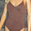 Victoria's Secret Beach Sexy Brown 1 Piece Padded Swimsuit 6  191553