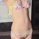NWT Victoria's Secret Cyn & Luca Sequin Pink Floral Sequin Bikini Size Small  238504