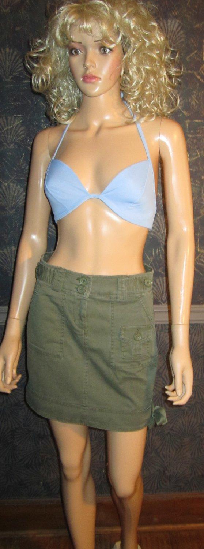 Victoria's Secret $40 Olive Green Cargo Mini Skirt 0 192740