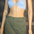 Victoria's Secret $40 Olive Green Cargo Mini Skirt 0 192740