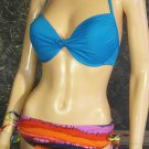 Victoria's Secret $74 Push Up Twist Triangle 36D Large Tie Dye Bikini 263900 267056