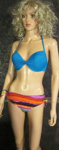 Victoria's Secret $74 Push Up Twist Triangle 36D Large Tie Dye Bikini 263900 267056