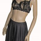 Victoria's Secret Below The Knee Triple Layer Black Skirt 4 164038