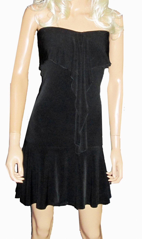Victoria's Secret Black Strapless Flirty Evening Dress XXS  197228