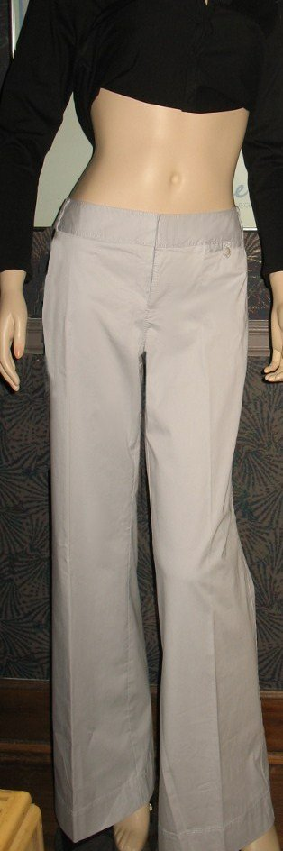 NWT Calvin Klein The Riley Grey Wide Leg Jeans 12 Tall  112109