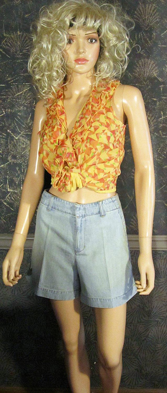 Victoria's Secret London Jeans Pale Blue Denim Shorts 8 193258