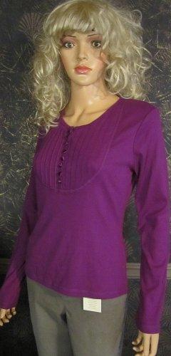 Victoria�s Secret Purple Long Sleeve Henley Top size Medium  186912