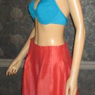 New Victoria's Secret $138 Linen/Silk Orange Skirt 8   236499