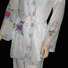New Victoria's Secret White Odille Oasis Embroidered Robe Medium  205037