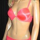 Victoria's Secret Hot Pink Logo Push-Up 36B Bra Set 286028 303174