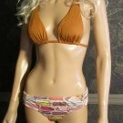 Victoria's Secret Side Zip Padded Push-Up Multi Color Bikini Small Medium  235998