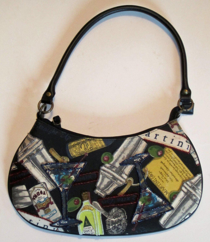 Martini Black Beaded Evening Handbag Purse NEW! M119