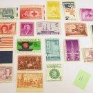 20 - Vintage 1930s-60s US Postage 3 , 4,  5 , 6 Cent Unused