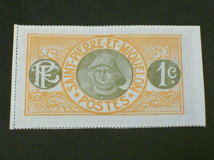 1909 France , St. Pierre And Miquelon 1c