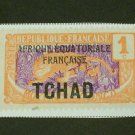 1922 France , Chad - Tchad Overprint , Middle Congo 1c