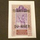 1921  France ,  Niger Over Print   1c